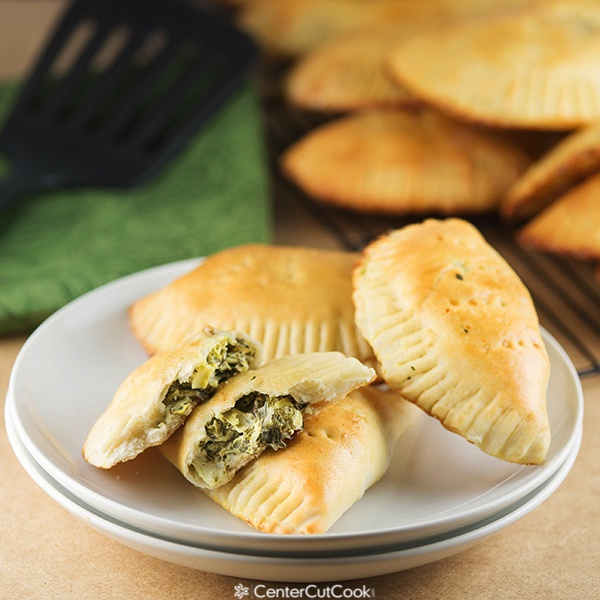 Creamy artichoke spinach pockets fb