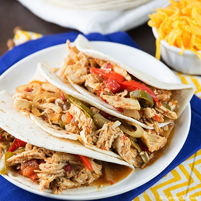 Slow cooker chicken fajitas 2