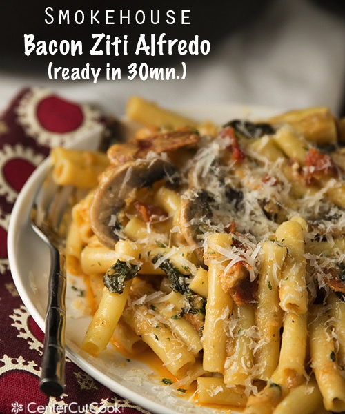 Smokehouse bacon ziti alfredo 3