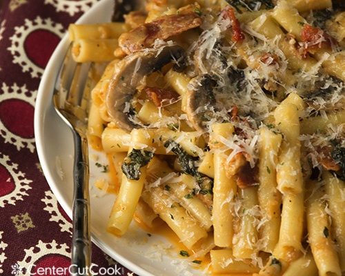 Smokehouse bacon ziti alfredo 4