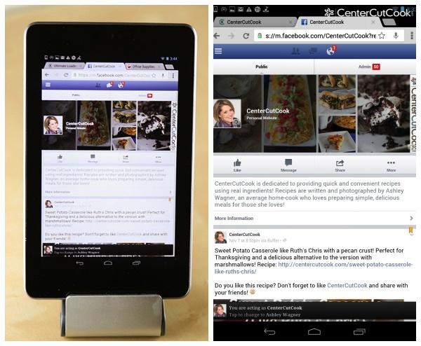 Nexus 7 Facebook