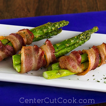 Bacon wrapped asparagus 2