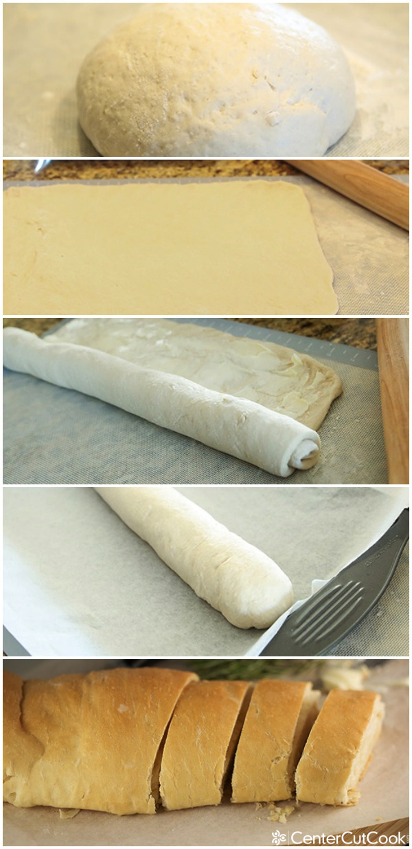 Easy homemade bread collage