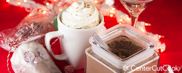 Candy cane kisses hot cocoa