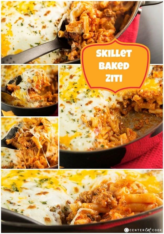 Easy Skillet Baked Ziti Recipe