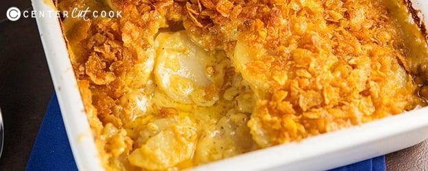 Cheesy scalloped potatoes gratin