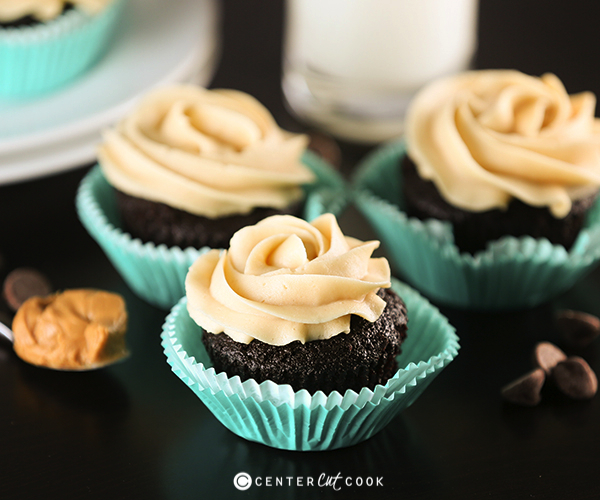 Chocolate peanut butter cupcakes 3