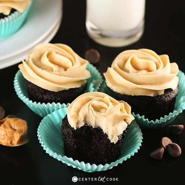 Chocolate peanut butter cupcakes fb