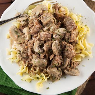 Crock pot beef stroganoff 4