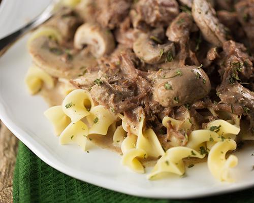 Crock pot beef stroganoff 6