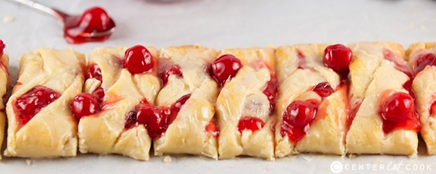 Easy Braided Cherry Cheese Danish