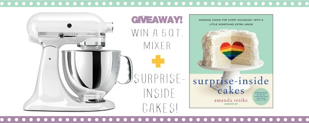 Kitchen aid mixer giveaway top
