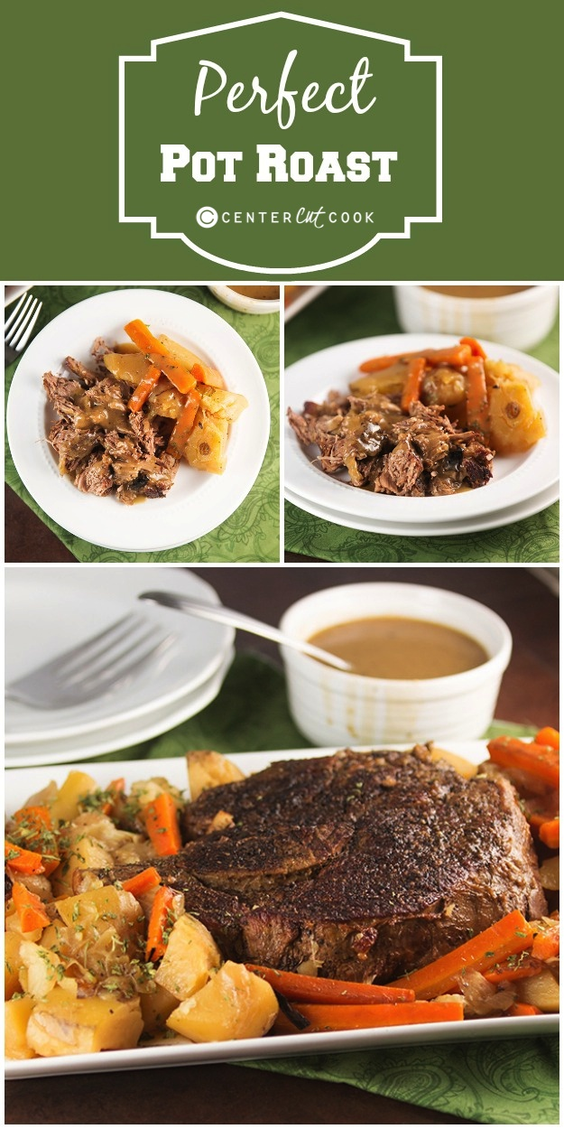Perfect pot roast collage