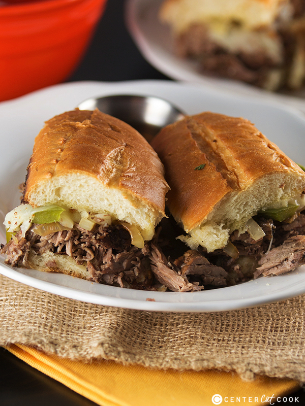 Slow cooker french dip sandwiches 4