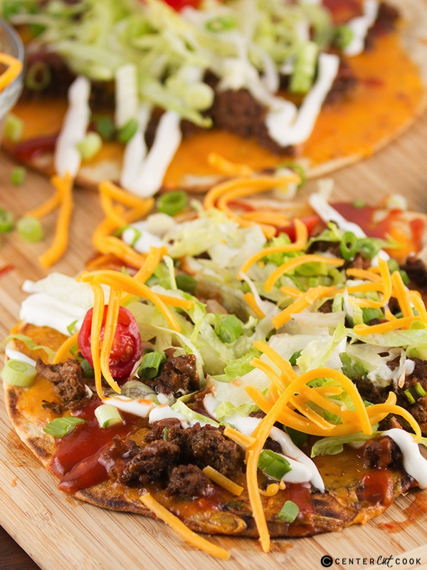 Taco flatbread pizza 3