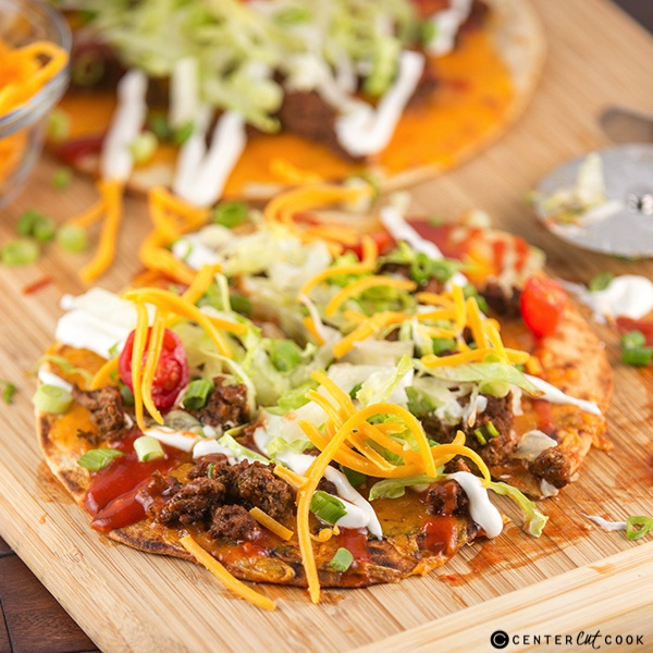 Taco flatbread pizza 4