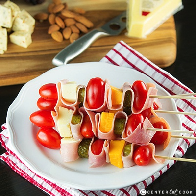 Cheddar and Ham Skewers