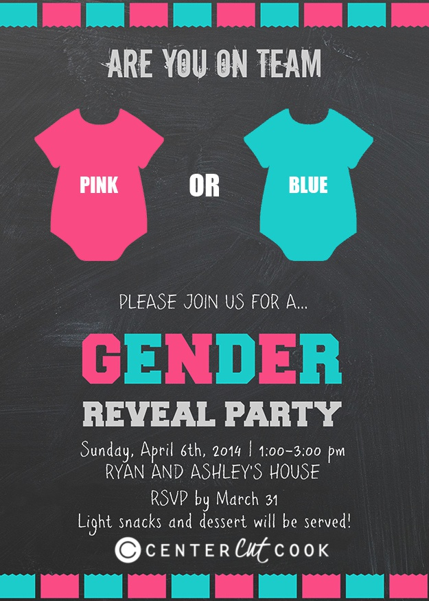 gender reveal invite - Gender Reveal Party Invites