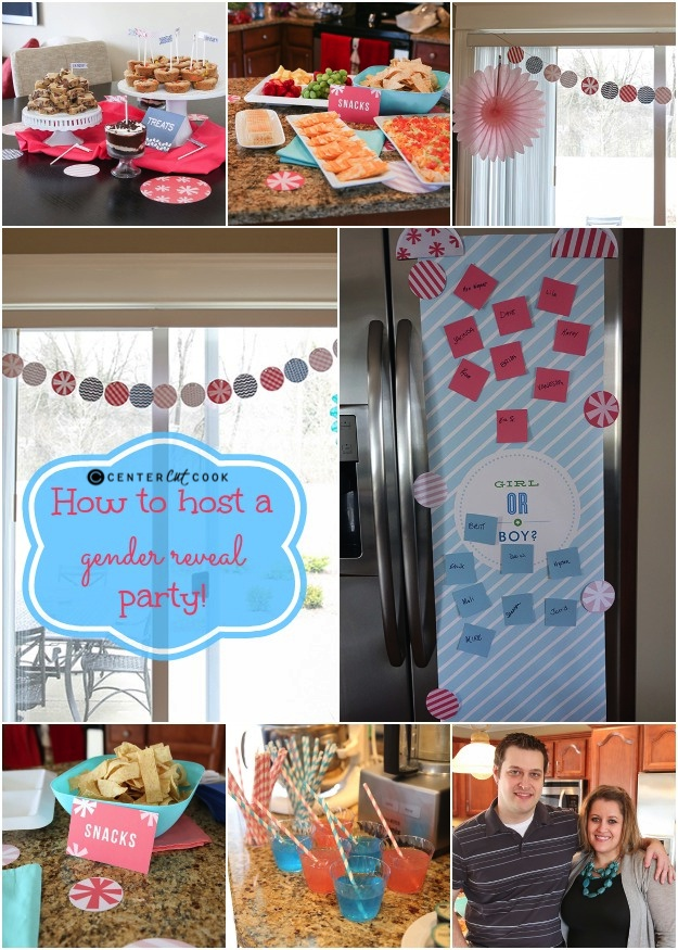 Gender reveal party collage