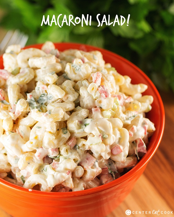 Easy Macaroni Salad is perfect for summer or any night of the week! I ...