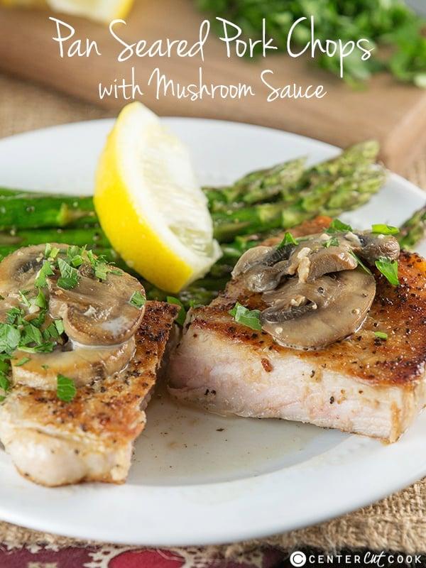 Pan Seared Pork Chops with Mushroom Sauce Recipe