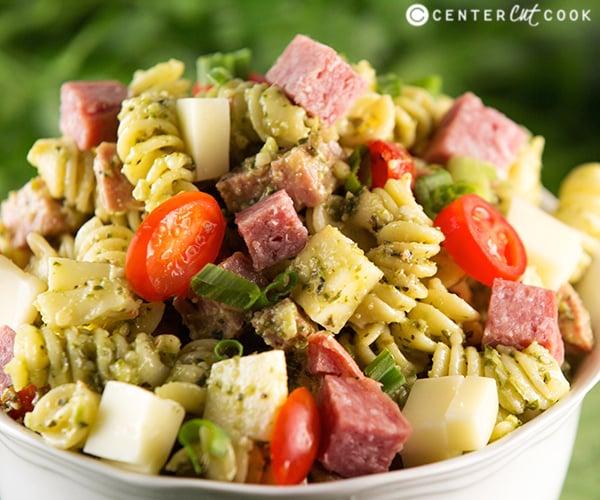 Pesto pasta salad 3