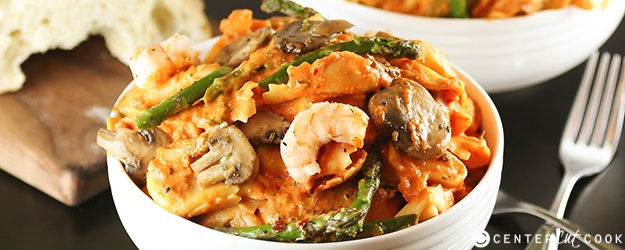 Tortellini with Shrimp and Mushrooms