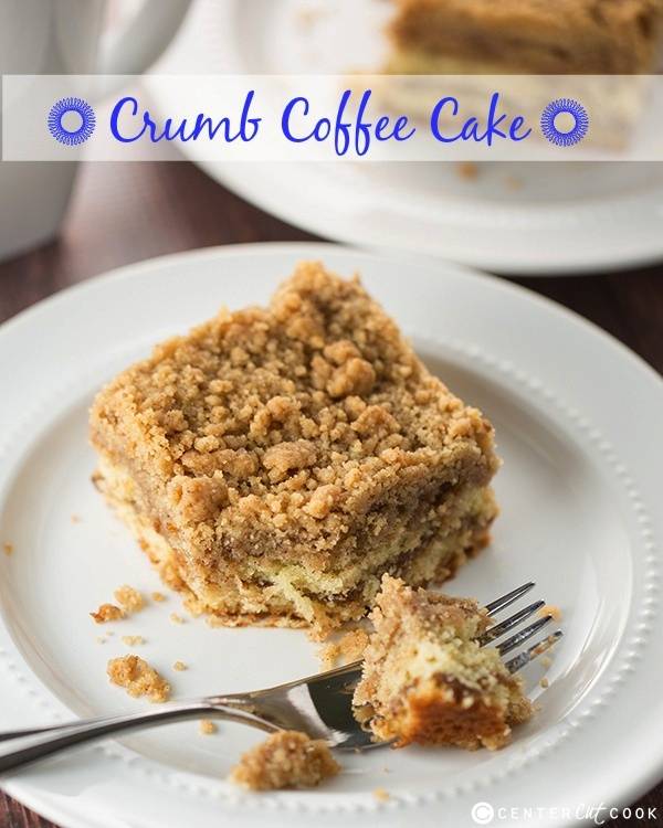 This ultra crumbly Crumb Coffee Cake recipe is buttery with cinnamon ...