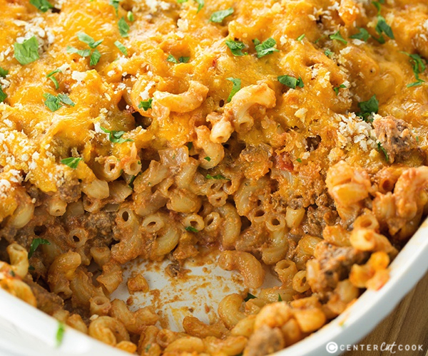 Macaroni and beef with cheese casserole 4