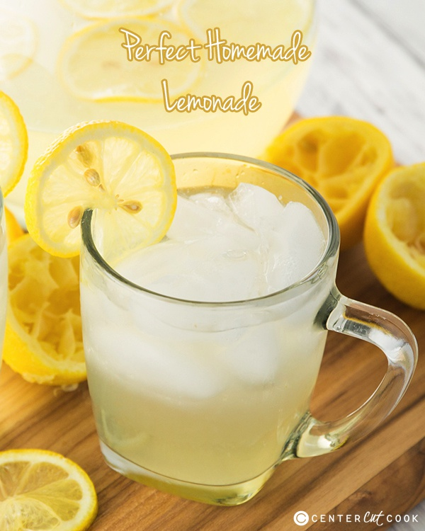 Homemade Lemonade Recipe made with fresh squeezed lemon juice! This is ...