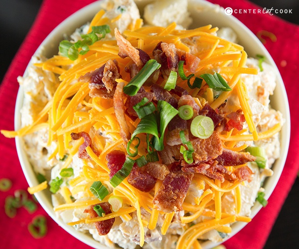 Loaded baked potato salad 6