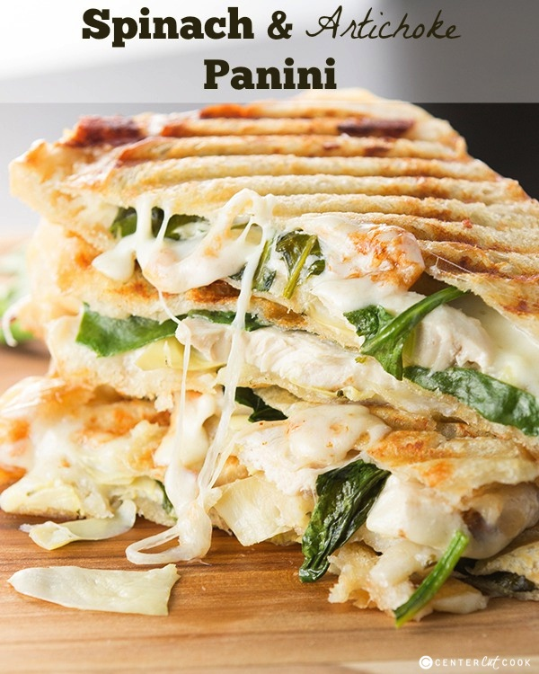 Spinach and artichoke panini 14