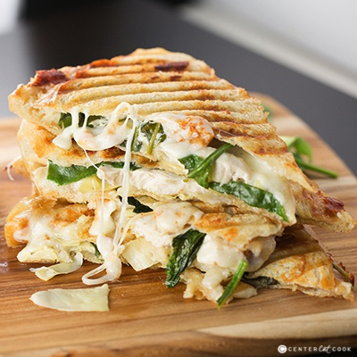 Spinach and artichoke panini 2