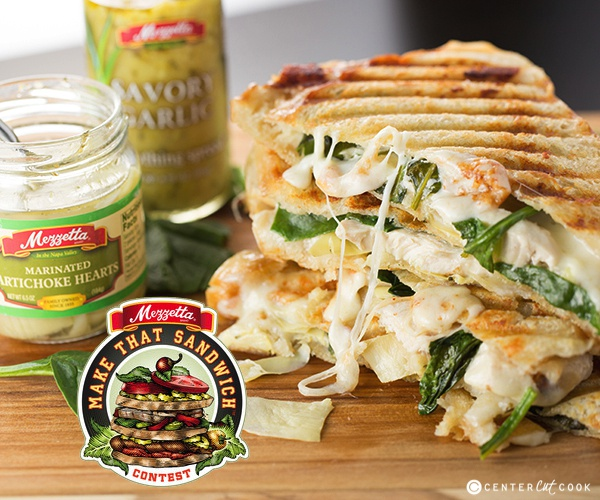 Spinach and artichoke panini 9