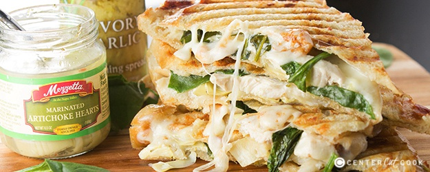 Spinach and artichoke panini