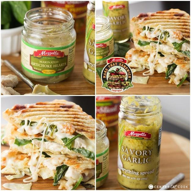 Spinach artichoke panini 13