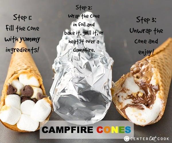 17 Easy Campfire Treats Your Kids Will Love: Campfire Cones Recipe