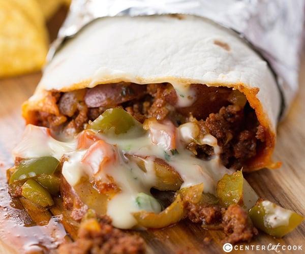 Chorizo, Potato, and Queso Burritos Recipe