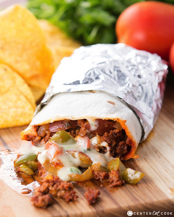 Chorizo potato queso burritos 4