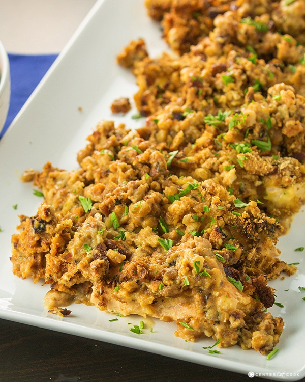 Slow cooker cheesy chicken and stuffing 3