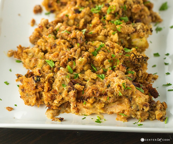 Slow cooker cheesy chicken and stuffing 4