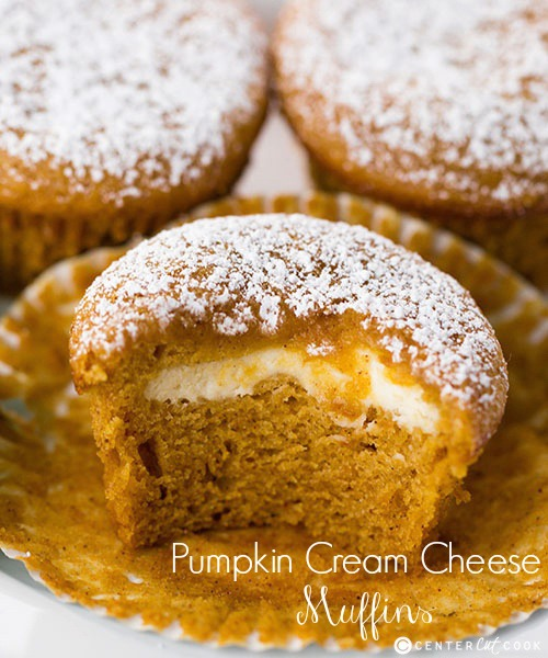 Pumpkin cream cheese muffins 3