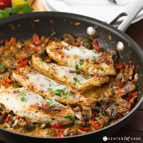 One skillet cheesy italian chicken recipe cheesy italian chicken 2 forumfinder