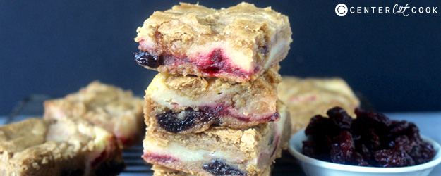 Cherry Cheesecake Blondies