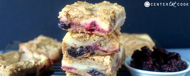 cherry cheesecake blondies 1