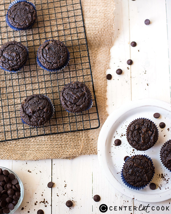 gluten free double chocolate muffins 2