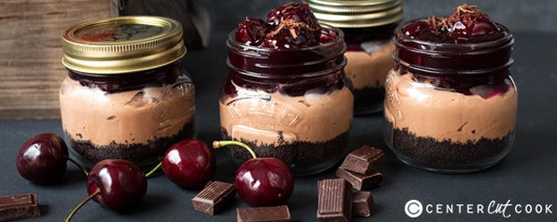 No-Bake Chocolate Cherry Cheesecake