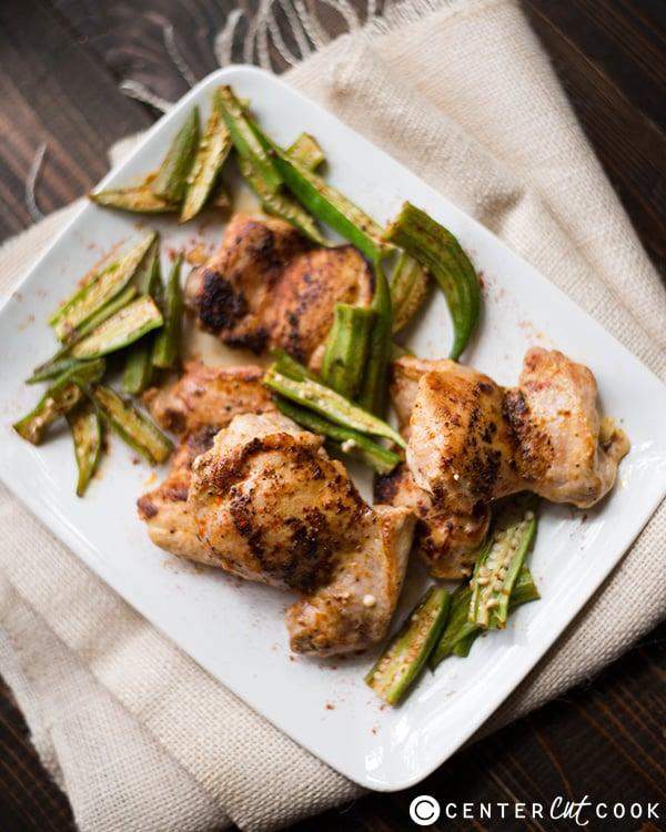 roasted chicken okra 3
