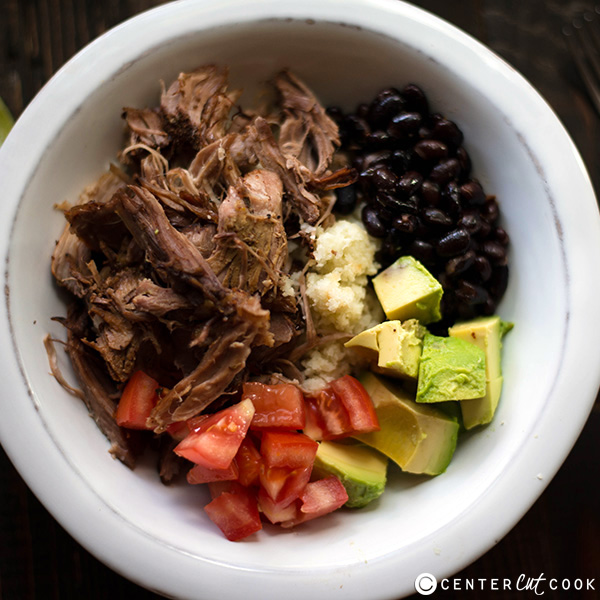 slow cooker carnitas bowl 4