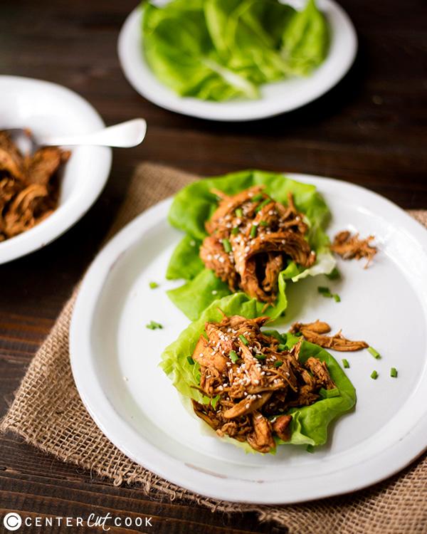 slow cooker sesame chicken wraps 2